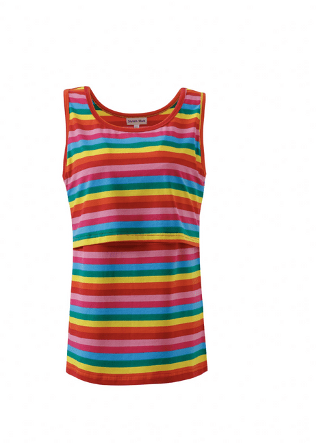 Rachael Rainbow Breastfeeding Vest - no need to be boring just because you are breastfeeding !