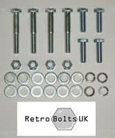 Front Anti Roll Bar Bracket  to Chassis Bolt Set  - Ford Capri