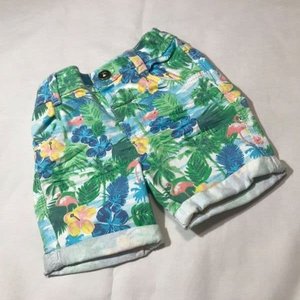 0-3 Month Tropical Print Shorts