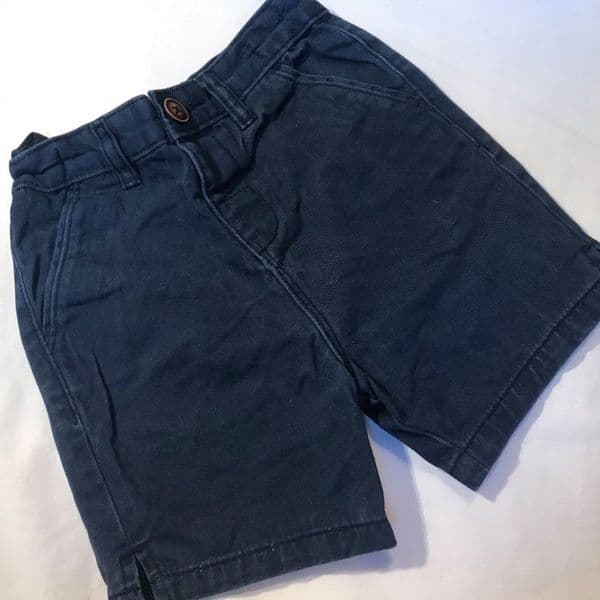 18-24 Month Navy Canvas Shorts