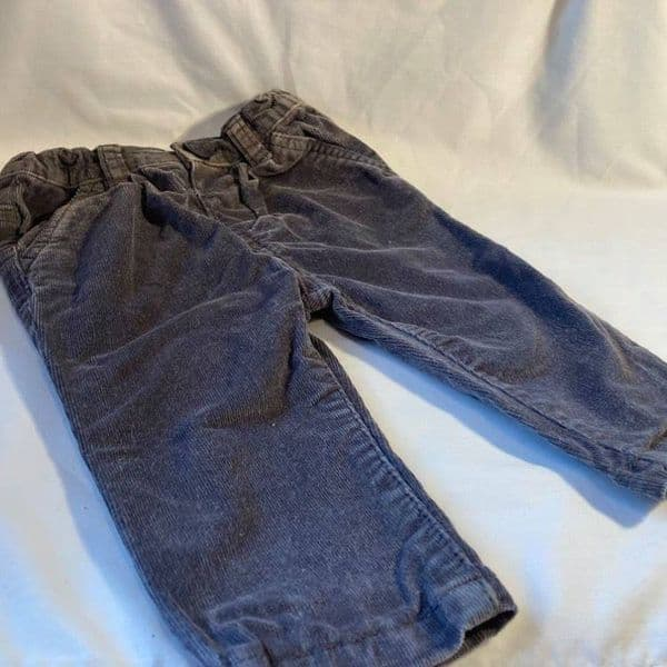 3-6 Month Grey Cord Trousers