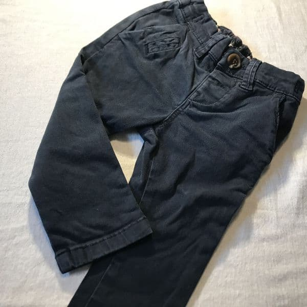 3-6 Month Navy Skinny Trousers