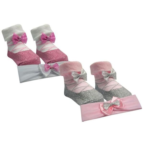 6-12 Months Ballerina Headband and Socks Set