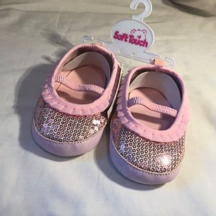 6-15 Month Sparkle Pram Shoes