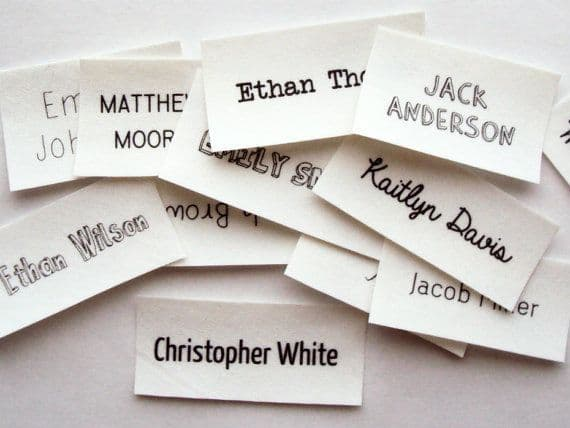 Name Tags will be added to all your garment purchases by our in house team