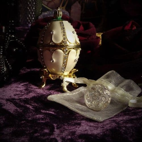 'Astraea' Czech Crystal Fortune Ball Die or Dice (Small)