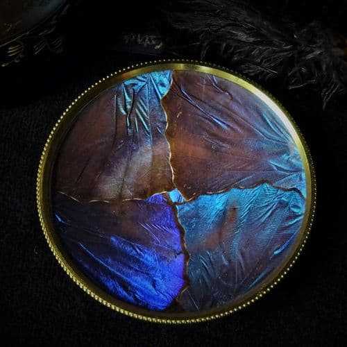 'Golden Dreams' Butterfly Wing Pin Dish