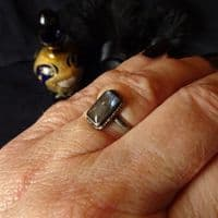 'Mysterious Depths' Butterfly Wing Ring