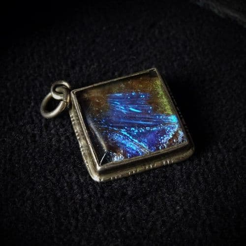 'Sapphire Pool' Butterfly Wing Pendant