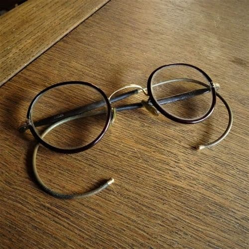 Brown Rimmed Reading Spectacles from the 1940's