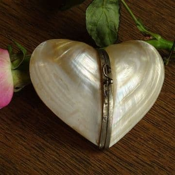 Heart Shaped Mother of Pearl Purse