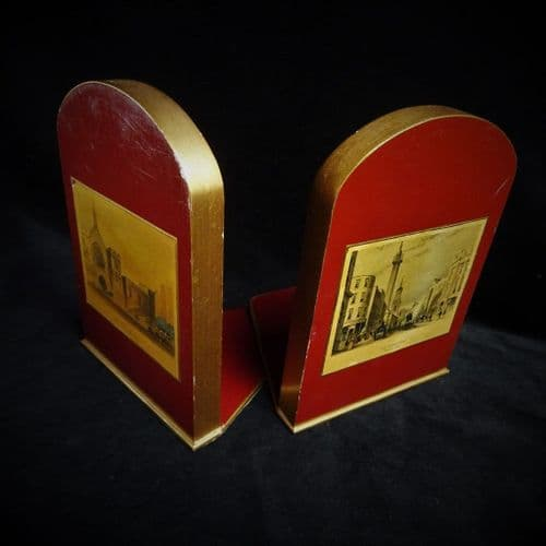 Lady Clare Bookends with London Scenes