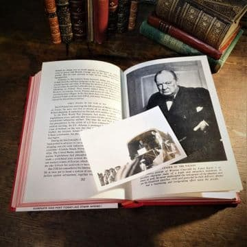 Original Photograph of Winston Churchill & Anthony Eden in 1943 and 'Churchill His Life and Times'