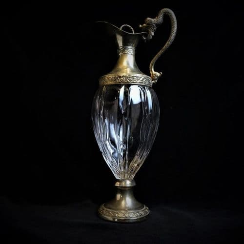 Silver Plated Decanter with Dragon Handle