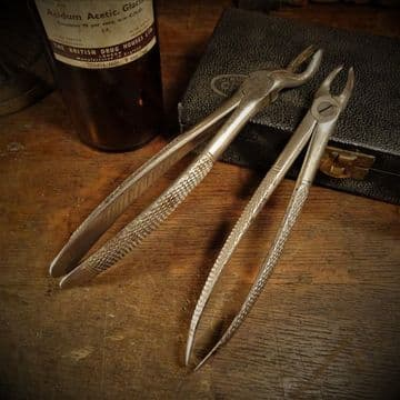 Two Tooth Extraction Tools Dental Forceps