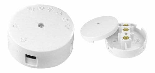20 AMP  3 TERMINAL PIFCO JUNCTION BOX WHITE WIRING CABLE CONNECTOR