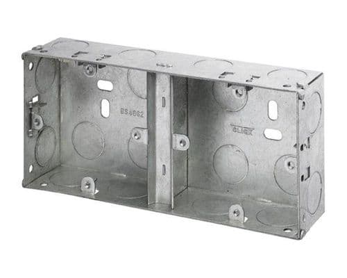 35mm Dual Accessory Metal Box to mount 2 accs side by side pack of five