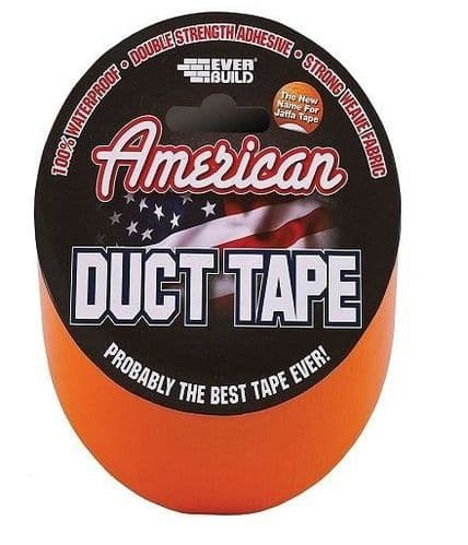 Everbuild American Duct Tape 50mm x 5 mtrs Orange