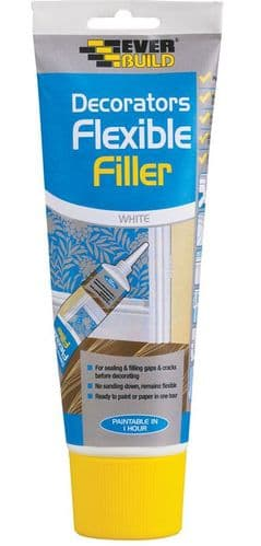 Everbuild Decorators Flexible Filler White Squeexe Pack 200ml