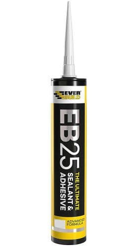 EVERBUILD EB25 The Ultimate SEALANT & Adhesive Hybrid Polymer Indoor Clear