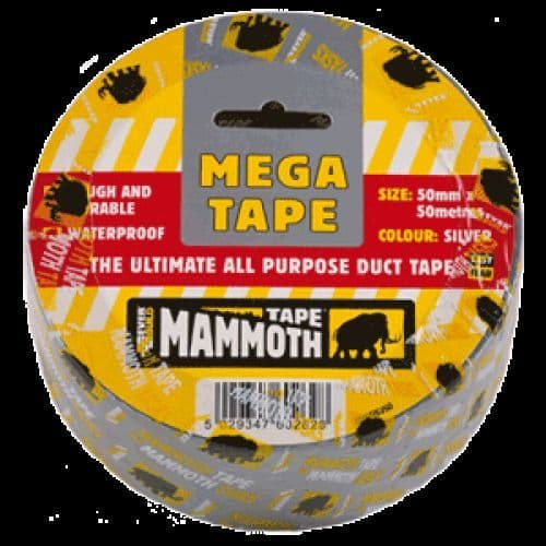 Everbuild Mega Tape All Purpose Duct Tape Black 2MEGBK50