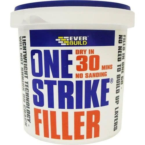 Everbuild One Strike Filler Dry in 30 Mins - No Sanding 1 litre