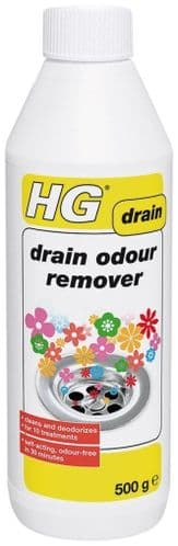 HG Drain Odour Remover 500g Cleans & Deodourizes 10 Treatments