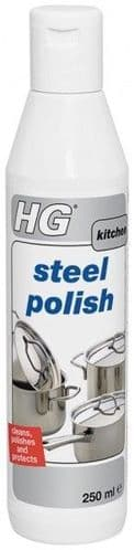 HG Steel Polish Cleans Polishes & Protects 250ml