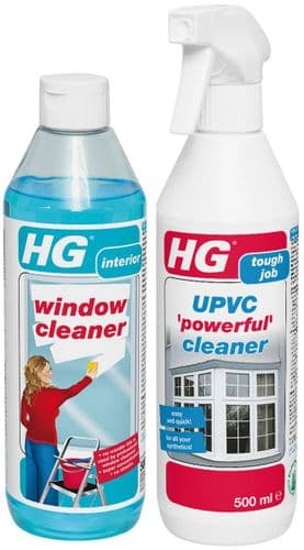 HG Window - Conservatory cleaning kit UPVC Cleaner & Window Cleaner