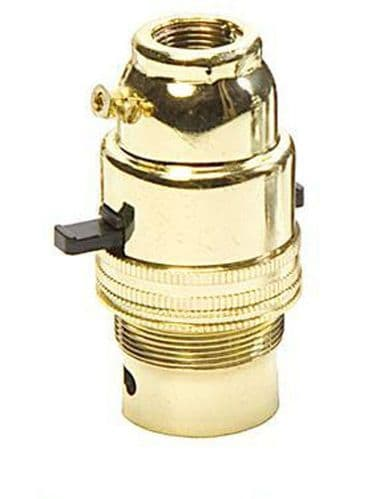 "Switched Brass Lampholder B.C. 1/2"" Screw Entry LAC2588 Quality Product"