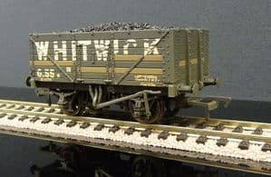 37-092 7 Plank End Door Wagon Whitwick with Load