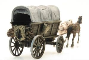 ArtiTec 387285 Large Farmers wagon with canvas cover