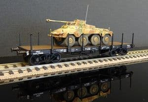 WB-515 SNCF Plats TP with Armoured car load