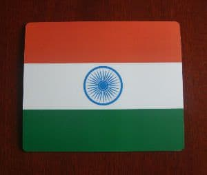 India Country Flag Hardtop Mouse Mat / Pad.