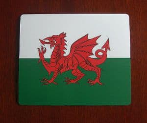 Wales Country Flag Hardtop Mouse Mat / Pad.