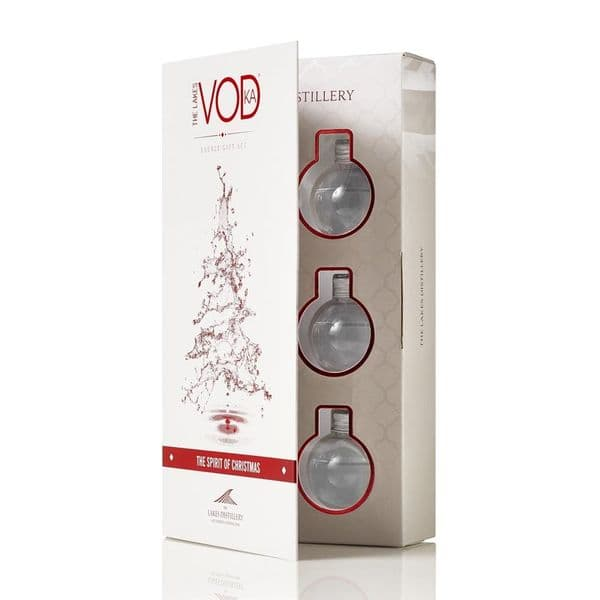 The Spirit Of Christmas - The Lakes Vodka  Baubles 6x 5cl Baubles