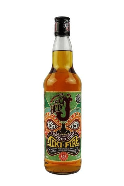 Admiral Vernons Old J Tiki Fire Spiced Rum 70cl