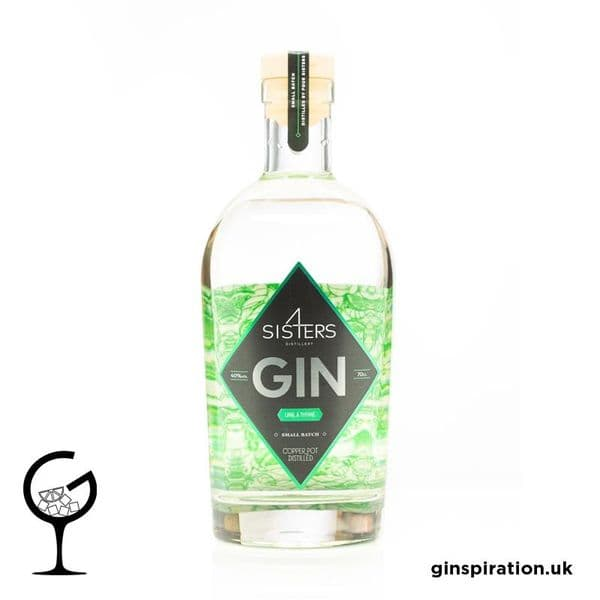 Four Sisters Lime & Thyme  Gin 70cl | Ginspiration.uk
