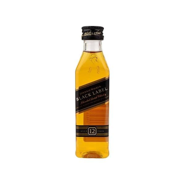 Johnnie Walker 12 Year Old Black Label Blended Whisky 5cl