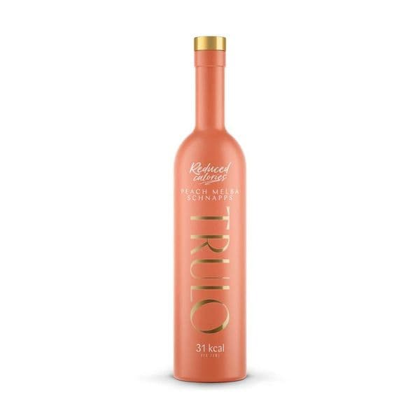 Trulo Peach Melba Schnapps Low Calorie Liqueur 50cl | Ginspiration.uk