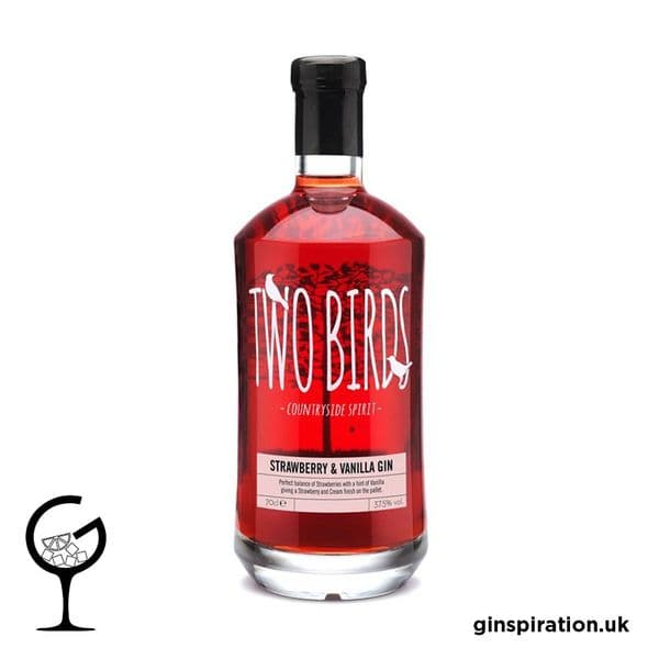 Two Birds Strawberry & Vanilla Gin 70cl