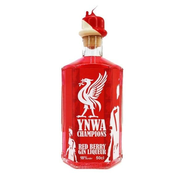 YNWA Liverpool FC Champions Red Berry Gin Liqueur 50cl