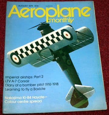 Aeroplane Monthly Magazine 1974 August Imperial Airships,A7-Corsair,Comper Swift,Halton
