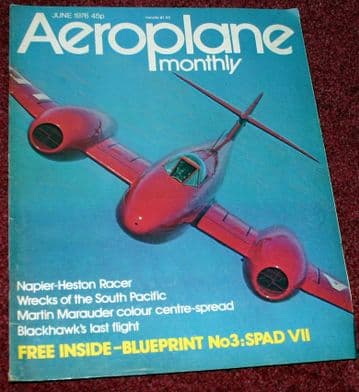 Aeroplane Monthly Magazine 1976 June Napier Heston Racer,South Pacific Wrecks