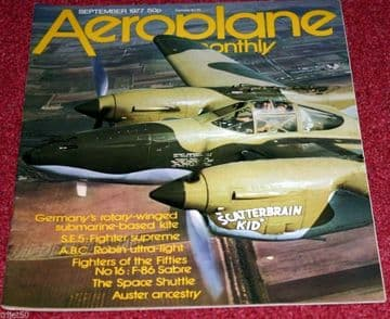 Aeroplane Monthly Magazine 1977 September Auster,SE5A,F-86 Sabre,Mosquito,Fa330,747