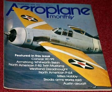 Aeroplane Monthly Magazine 1978 February Convair XC-99,Siskin,F-82 Twin Mustang,Westland Dreadnought