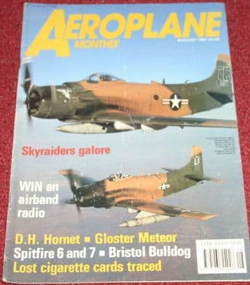 Aeroplane Monthly Magazine 1991 August Sopwith,Bristol Bulldog,DH Hornet,Moth