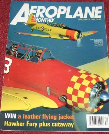 Aeroplane Monthly Magazine 1991 December BOAC Stratocruiser,Hawker Fury,Heston,Caproni,XB-19