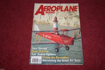 Aeroplane Monthly Magazine 1991 March Siskin,Stirling,Baroudeur,Saro Shrimp,MacRobertson
