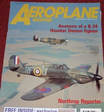 Aeroplane Monthly Magazine 1991 November F-15 Reporter,Buccaneer,Hawker Demon